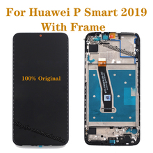 Original with frame For Huawei P Smart 2019 LCD +touch screen digitizer assembly replacement p smart (2019) display repair parts