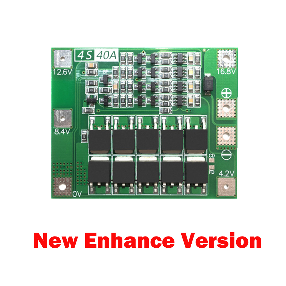 4S 4.2V 14.4V 16.8V 68mA 18650 Lithium Battery Balance Circuit Protection Board