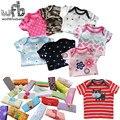 Retail 5 unids/pack 0-24months corto-manga de la camiseta infantil del bebé recién nacido de dibujos animados de ropa para niños niñas lindo clothing verano 2015new