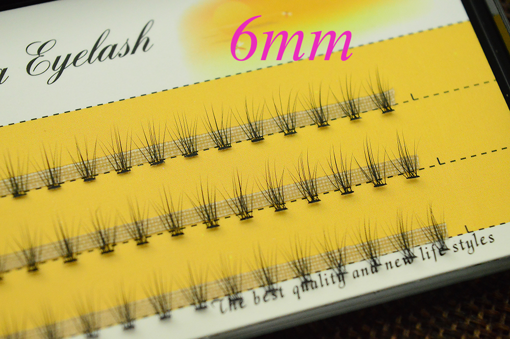 HTB1g2mooCBYBeNjy0Feq6znmFXaD 60 pcs/lot 10D Handmade natural eyelash extension individual lashes nakeds make up eyelash cluster false fake wispies eyelashes