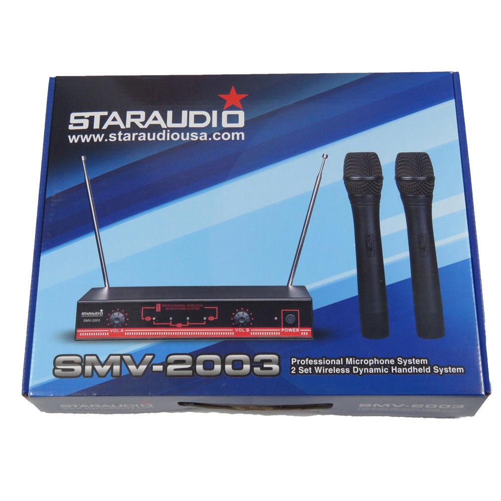 2ch wireless handheld vhf church party ktv microphone