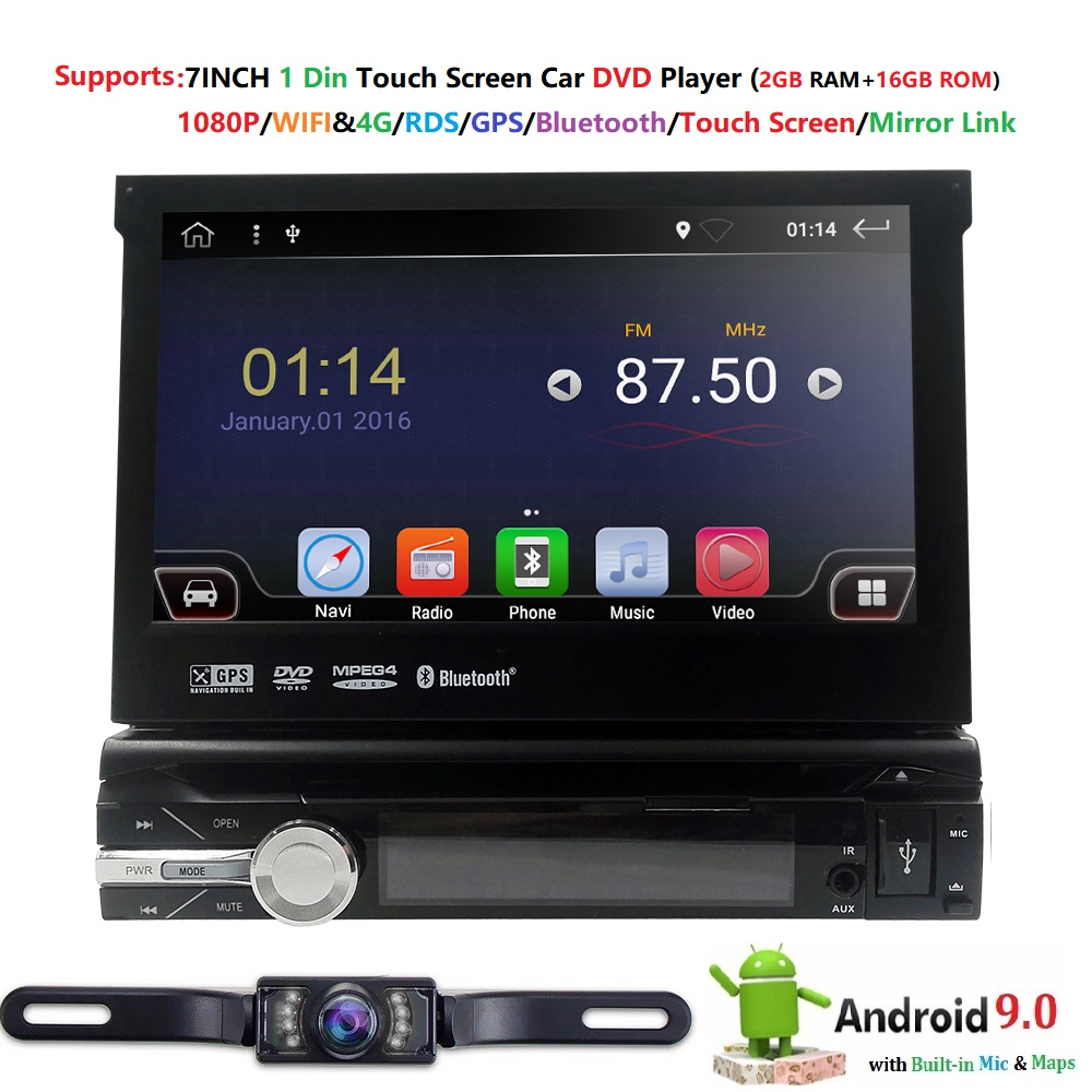 Android 9.0 Quad core Universal Car Radio Stereo GPS Navigation 4G WiFi  Touch Screen DVR OBD2 TPMS DVR BT USB Free back cameraAndroid 9.0 Quad core Universal Car Radio Stereo GPS Navigation 4G WiFi  Touch Screen DVR OBD2 TPMS DVR BT USB Free back camera