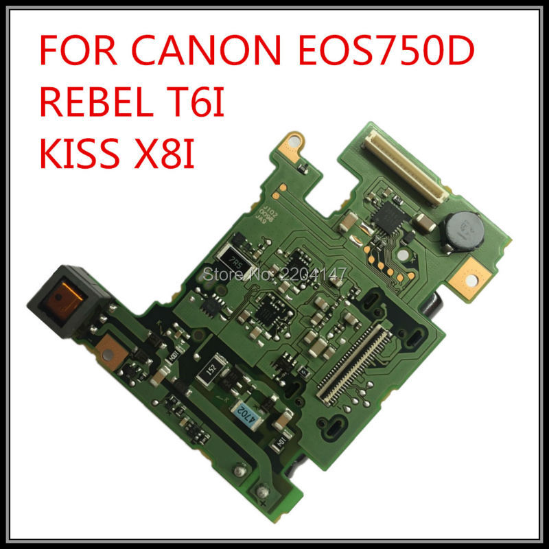 100% NEW original  powerboard for canon EOS 750D  Rebel T6i Kiss X8i 750D power board dslr Camera repair parts free shipping new original lcd display screen for canon eos 750d ds126571 kiss x8i rebel t6i mini slr with backlight and outer touch screen