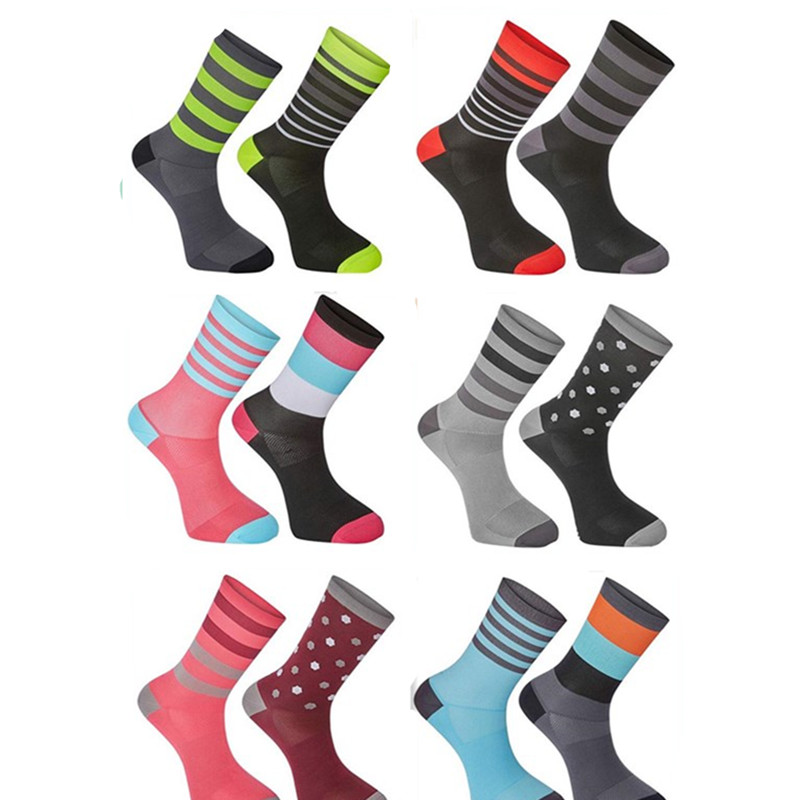2018 bmambas Men Cycling Socks High Elasticity Soft Sports Socks Deodorization Breathable For compression socks