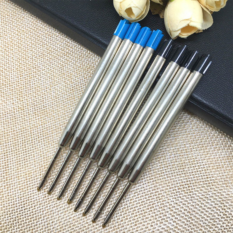 5Pcs/lot Metal Cartridge Ball Point Pen Refills Black/Blue Ink For Self-Defense Tactical Pen Self Defense Supplies  Accessories