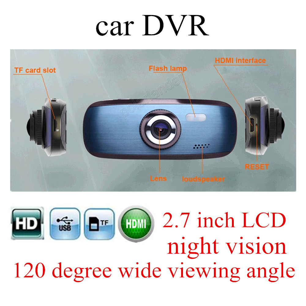 lower price 120 degree wide viewing angle FULL HD 1080P 2.7 inch Car DVR H200 Vehicle Camera Video Recorder LED Night Vision