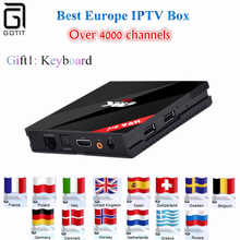 Европа iptv поле новой H96 Pro + 3 ГБ/32 ГБ S912 Android 6.0 TV Box HD Smart TV + 1 год 5000 + Великобритании xxx Каналы арабский IPTV Турции IPTV