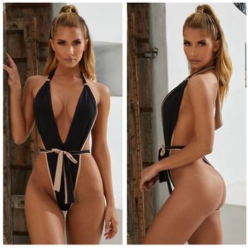 4444e6fbfefa Купальник бандо Бразильский бикини женский цельный купальник 2019  Сексуальная ...
