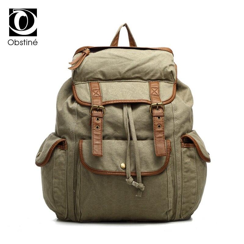 Grande capacité femmes sac à dos pour voyage cordon toile sacs à dos femme sac à ordinateur portable sacs de voyage armée vert sac à dos