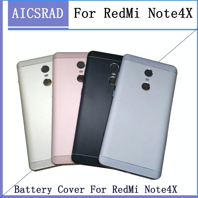 Neue Für Xiaomi Redmi Hinweis 4X32 GB (Snapdragon 625) ersatzteile Zurück Batterie Abdeckung + Seite Tasten + Kamera-Objektiv Ersatz