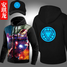 New Winter Warm Men Jacket Coat The Flash Batman hoodie Iron Man coat Sweatshirt Anime Hoodie