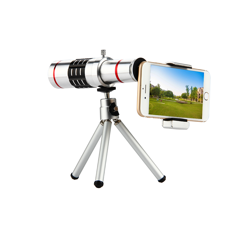 ET 18x Zoom Optical Telescope Telephoto Lens with Tripod Clip Kit Universal Phone Camera Lens for iPhone Samsung Mobile Phone