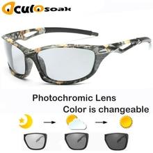 Photochromic Sunglasses Polarized Men Sport Sun glasses Camo Frame Eyewear UV400 Polaroid Oculos De Sol 2019 цена 2017