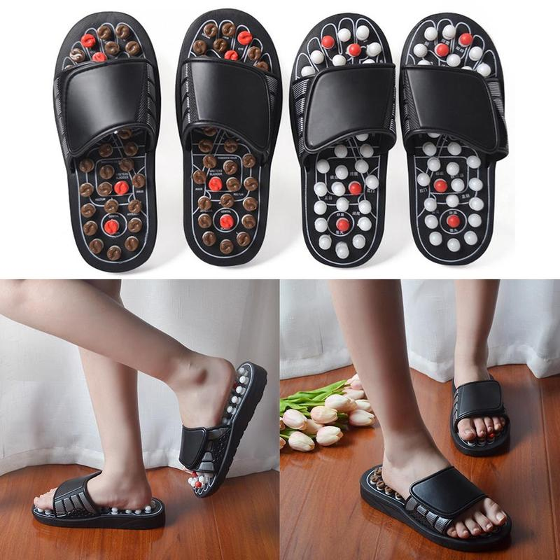 Massage Slipper Shoes For Men Women Summer Acupoint Healthcare Health Rotating Accupressure Foot Slippers