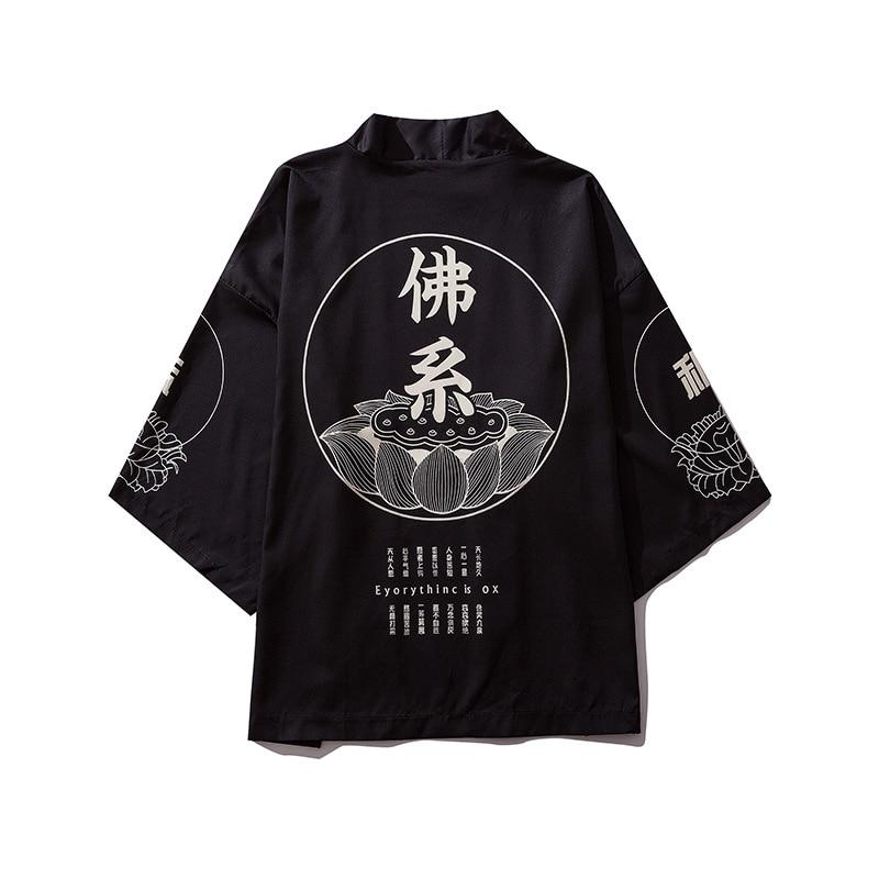 Japanese kimono men cardigan shirt blouse yukata men haori obi clothes samurai clothing male kimono cardigan(China)