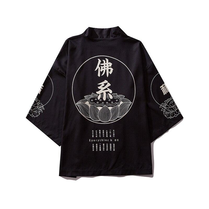 Japanischen kimono männer strickjacke hemd bluse yukata männer haori obi kleidung samurai kleidung männlichen kimono strickjacke