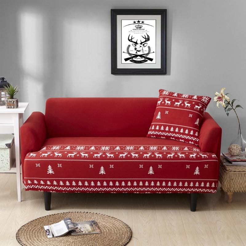 Christmas Slip Resistant Sofa Slipcovers Flexible Stretch