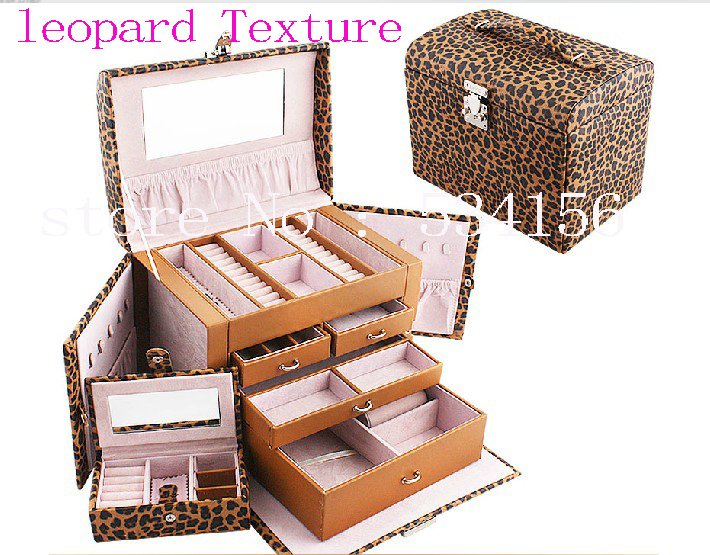 11 clolor  Large luxury leopard Texture  jewelry box,earrings necklace pendant  jewelry display shelf packing  gift box11 clolor  Large luxury leopard Texture  jewelry box,earrings necklace pendant  jewelry display shelf packing  gift box