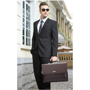 Image 2 - Mens Briefcase Portfolio Mens bag over the shoulder Laptop bags pu Leather Shoulder bag office Belt bag Messenger