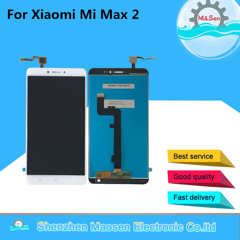 M&Sen For 6.44 Xiaomi Mi Max 2 LCD screen display+touch panel digitizer For xiaomi Mi Max 2 lcd dispaly frame display