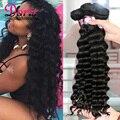 Ivy queen hair brasileño de la virgen pelo suelto onda profunda 4 unidades lote de Playa Onda Brasileña Suelta la Onda Pelo Rizado Manojos de Cabello Barato