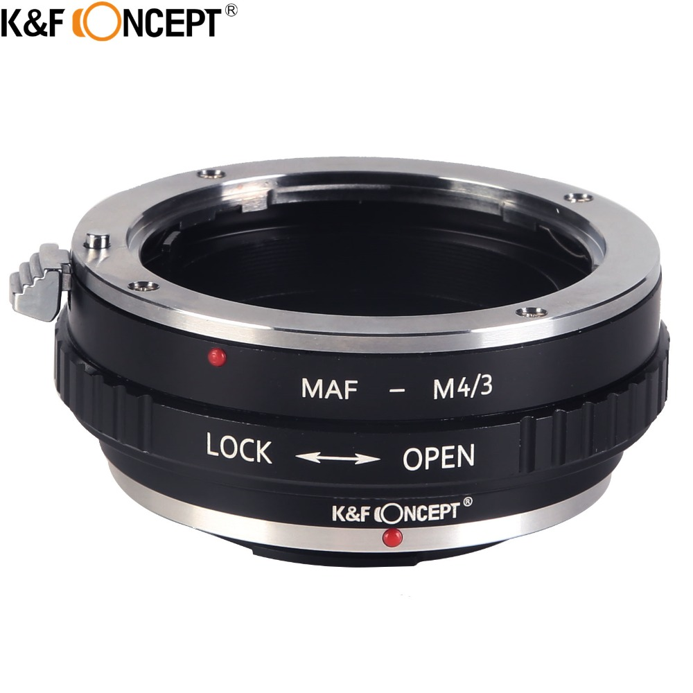 K&F CONCEPT for Minolta(AF)-M4/3 Camera Lens Adapter Ring For Sony/Minolta MA A AF Mount Lens for Micro 4/3 Olympus Panasonic lens to telescope adapter suit for sony alpha minolta af mount fourth generation swebo for wildlife photographers
