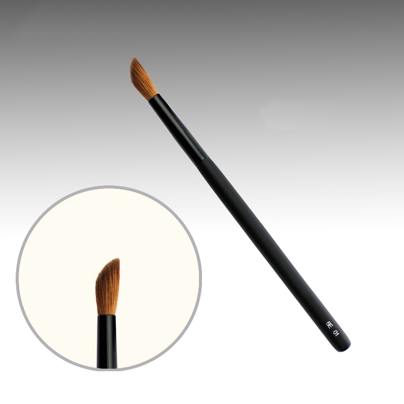 6E01 Professional Makeup Brushes Weasel Hair Eye Shadow Blending Brush Black Handle Cosmetic Tools Make Up Nose shadow Brush 7e08 professional makeup brushes weasel hair eye shadow blending brush black handle cosmetic tools smoky eye make up brush