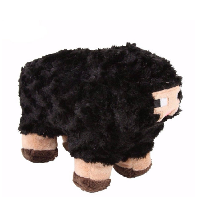 New Minecraft Zombie Pigman Black Sheep Plush Stuffed Animal Doll