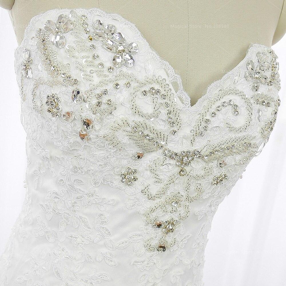 Vintage Meerjungfrau Hochzeitskleider Spitze Schatz Vestidos de ...