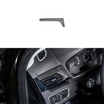 100% Real Carbon Fiber Fit For BMW X1 F48 16-17 Left Side Air Outlet Cover Trim