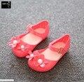 2016 Zapatos de La Jalea de Mini Melissa Caliente Nuevos Niños Jalea Sandalias De Bebé Sandalias de Verano Vaca Ganado Toddler Kids Zapatos de PVC