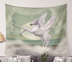 Image 5 - CAMMITEVER Unicorn Fairy Theme Wall Hanging Tapestry Cute Animal Hippie Mandala Yoga Mat Bedspread Sheets Home Decor