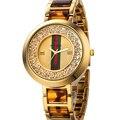 2016 Luxo Famosa Marca Top mulheres Leopard relógio de quartzo das senhoras vestido de strass relógios de pulso de aço Inoxidável relógio feminino