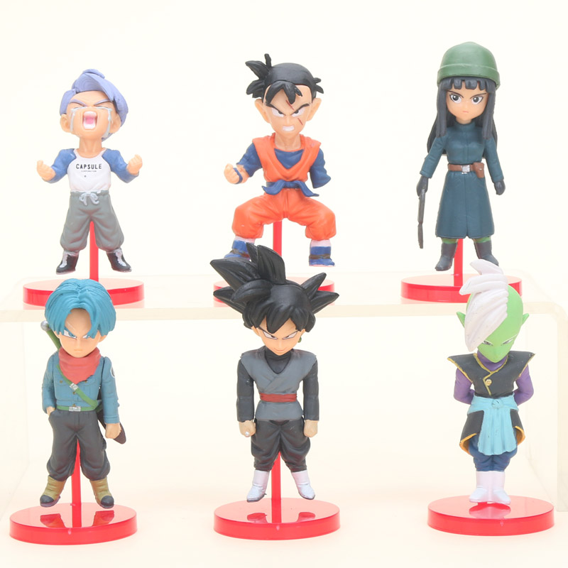 Toys & Hobbies 6pcs/set Anime Dragon Ball Super Vol.6 Son Gohan Goku Black Trunks Mai Zamasu Dragonball Dbz Pvc Figures Collectible Model Toys Attractive Appearance