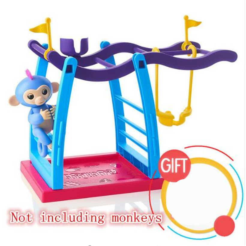 Funny 3 Colors fingerling baby monkey movement support for finger monkey sports climbing frame action figure juguetes kids toys funny monkey climbing board game kids falling tumbling family toy safe plastic sharing educational toys for kids