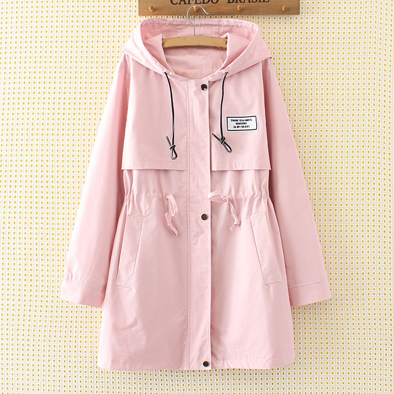 women's windbreaker 2018 spring autumn new fashion big size 6XL   trench   female   trench   Tie Slim elegant coat women IOQRCJV T95