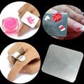 Краска ногтей Инструмент Из Нержавеющей Стали Красивые Клей Кольцо Сплава Ногтем живопись Палитра-CJNH08
