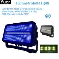 8Pcs/Lot LED Super Strobe Lights 1400W 5/12/14/21CH DMX LED DJ Equipment Disco Lights Bar KTV Sound Party Light Club Stroboscope