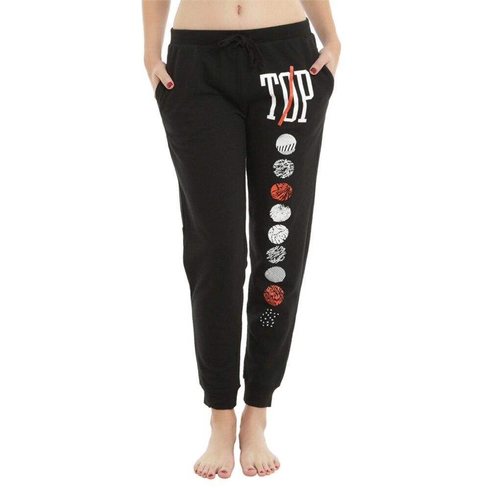 2018 Winter Cotton Harm Pants High Waist Women Warm Long Pants Print Patchwork Front Bandage Casual Pencil Sweatpants Plus Size