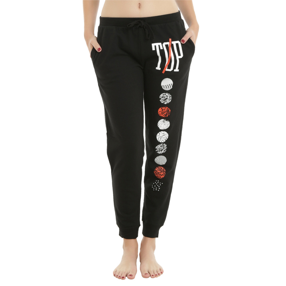 2019 Winter Cotton Harm Pants High Waist Women Warm Long Pants Print Patchwork Front Bandage Casual Pencil Sweatpants Plus Size