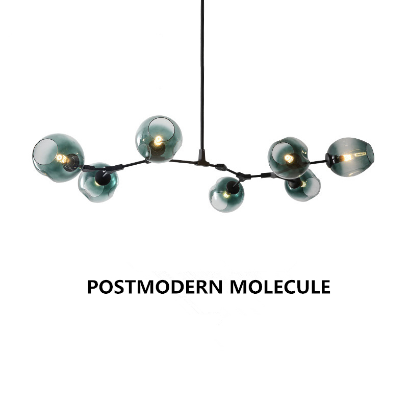 Postmodern LED chandelier glass hanging lights bedroom luminaires living room suspended lighting home fixtures pendant lamps
