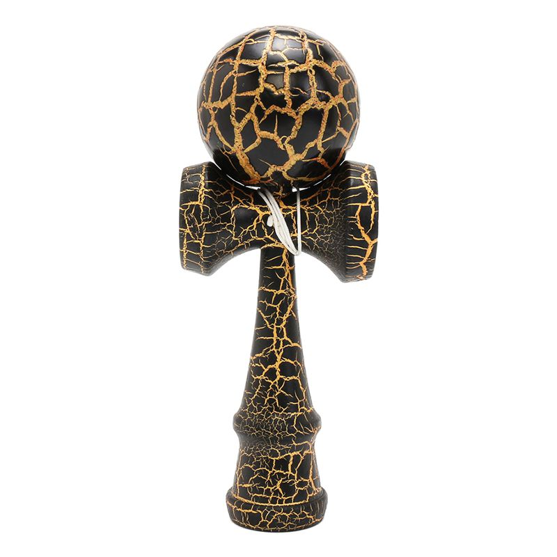 Full Crackle On Kendama Wooden Ball Education Traditional Game Toy