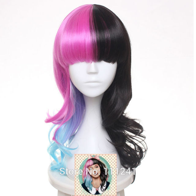 Melanie Martinez Wig Medium Culy Synthetic Hair Cosplay Full Wigs Heat  Resistance Women s Party Wigs + 6b30eb28a
