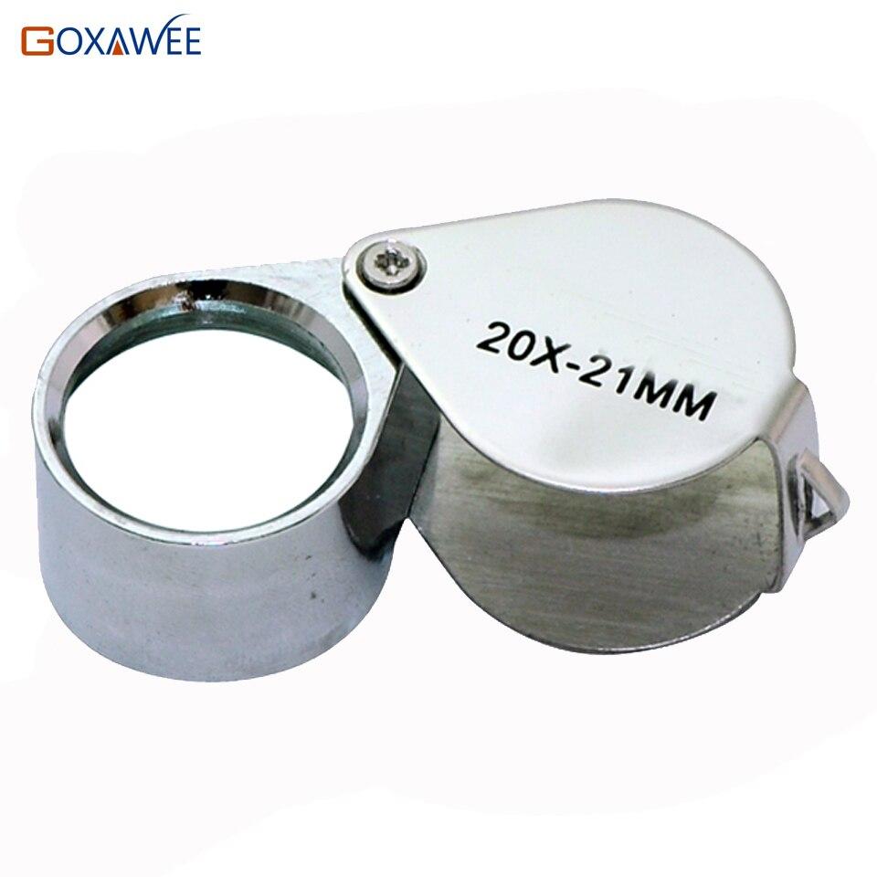 """Mini optiniai lęšiai Kišeninis padidinamasis stiklas Lupe lempa 20x padidinimas """"Lupa"""" visų metalų papuošalų įvertinimo didinamasis stiklas"""