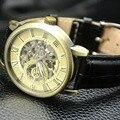 Forsining 2017 Vintage Luxury Brand Men's Watches Mechanical Skeleton Bronze Wristwatch Men Sport Watch Male Unique Gift box