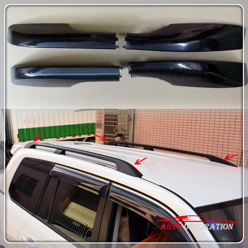 For Toyota Land Cruiser LC200 2008 2016 Roof Rack Side Rails Bar Cover Cap Parts Car