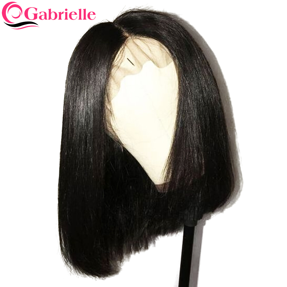 Gabrielle 13x4 Lace Front Human Hair Wigs Short Bob Wig For Black Women Natural Color Brazilian