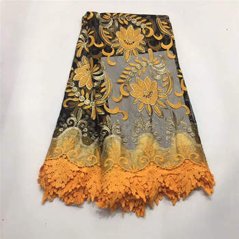Nigerian Lace Fabric High Quality African Lace Fabric Hot Sale Women Wedding Lace Gold French Lace Fabric 144