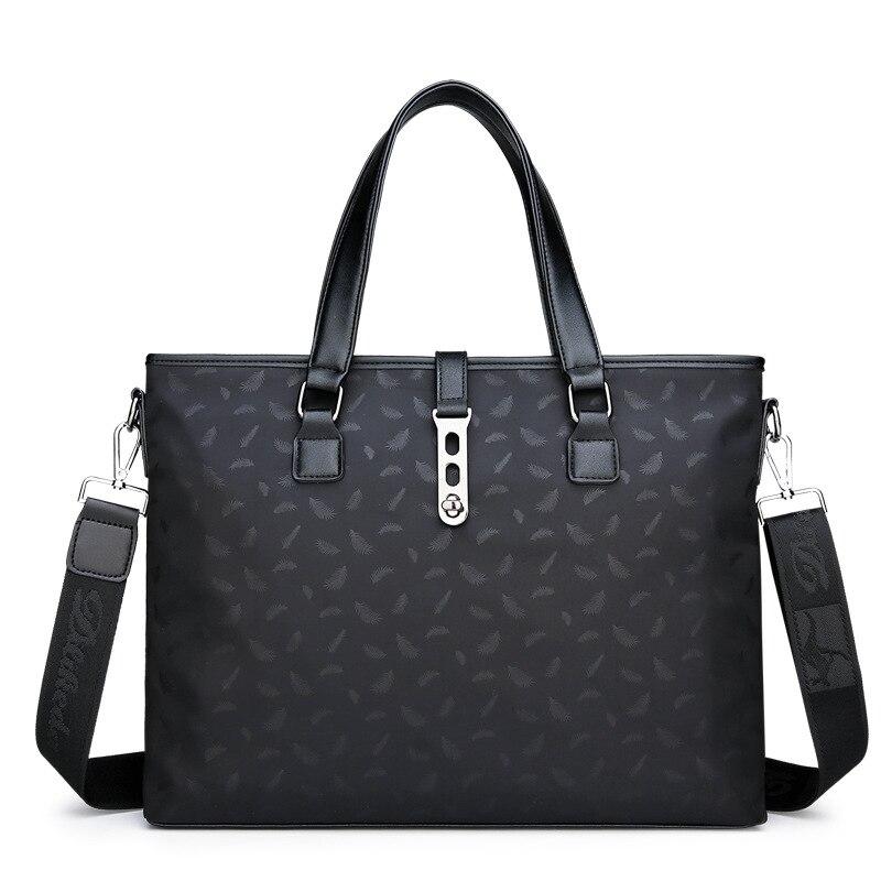 Men's business bag waterproof printing Oxford cloth 15 inch handbag shoulder diagonal computer bag
