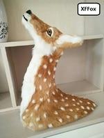 big simulation sika deer head model polyethylene&furs deer head wall pandent doll gift 52x48cm xf953